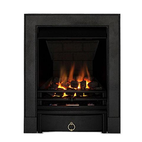 Soho Black Manual Control Inset Gas Fire