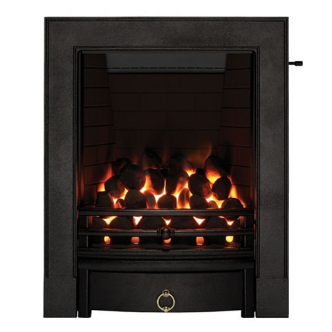 Soho Black Slide Control Inset Gas Fire