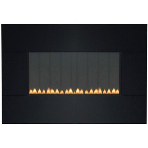 Focal Point Piano Flue Less Black Manual Control Wall Hung Gas Fire