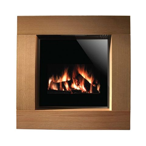 Focal Point Nero LCD Display Electric Remote Control Electric Fire Suite
