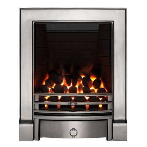 Soho Full Depth Chrome Effect Manual Control Inset Gas Fire