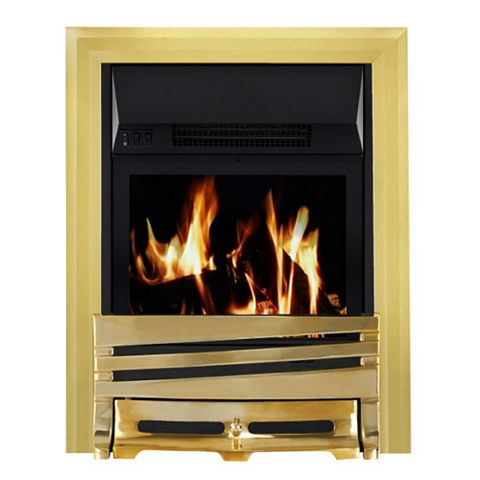 Horizon Brass LCD Display Remote Control Inset Electric Fire