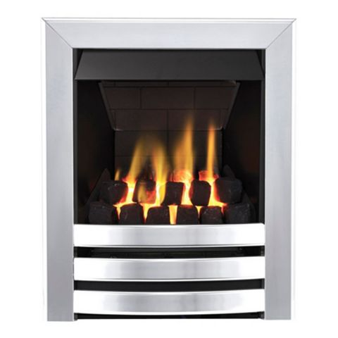 Langham Multi Flue Chrome Effect Manual Control Inset Gas Fire
