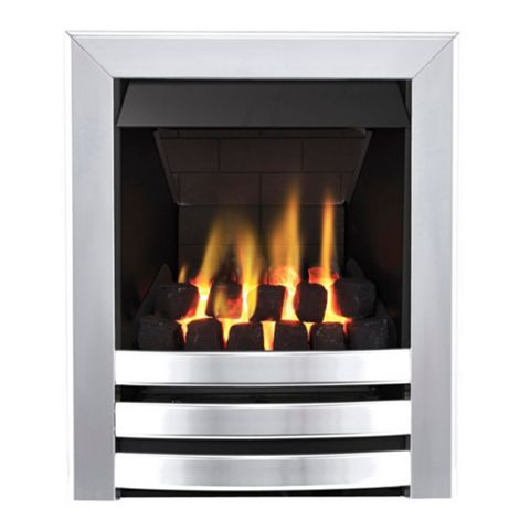 Langham Multi Flue Chrome Effect Remote Control Inset Gas Fire