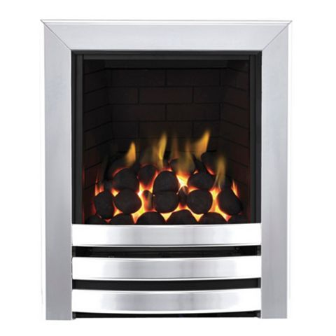Langham Full Depth Chrome Effect Manual Control Inset Gas Fire