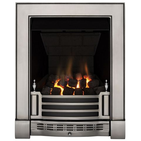 Finsbury Multi Flue Chrome Remote Control Inset Gas Fire