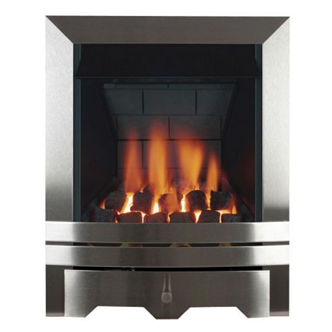 Chrome Manual Control Inset Gas Fire