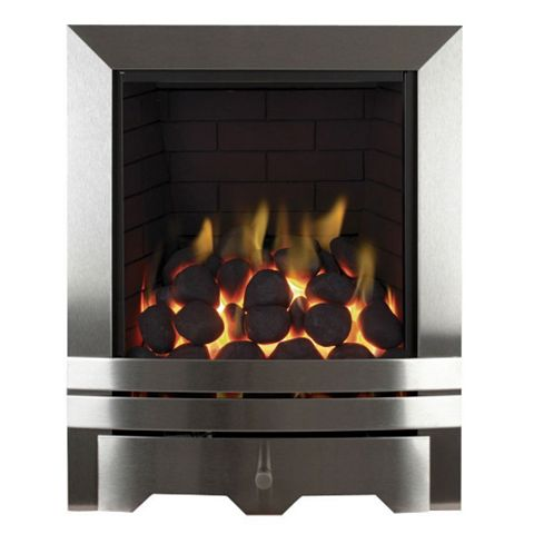 Focal Point Chrome Manual Control Inset Gas Fire