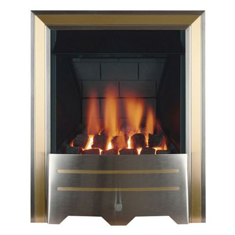 Focal Point Argent Multi Flue Brass & Stainless Steel Manual Control Inset Gas Fire