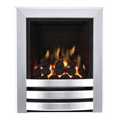 Focal Point Langham Full Depth Chrome Manual Control Inset Gas Fire