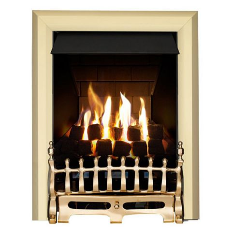 Focal Point Blenheim Multi Flue Brass Effect Slide Control Inset Gas Fire
