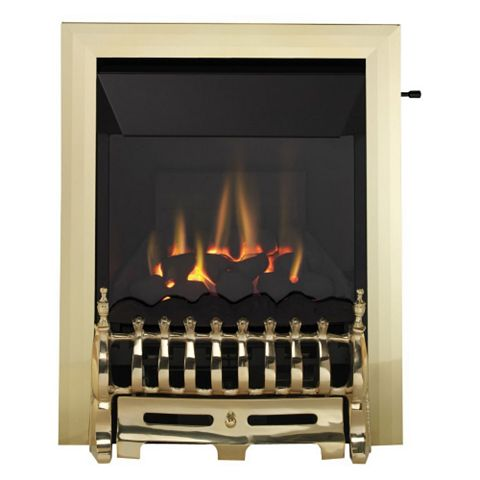 Focal Point Blenheim High Efficiency Brass Effect Slide Control Inset Gas Fire