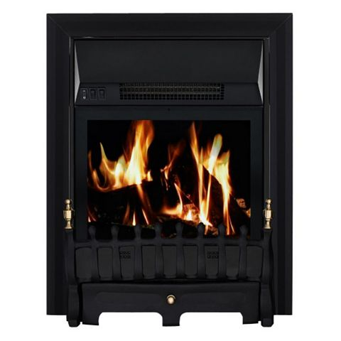 Blenheim Black Remote Control Inset Electric Fire