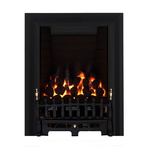 Blenheim Full Depth Black Manual Control Inset Gas Fire