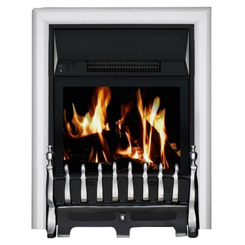 Blenheim Chrome Remote Control Inset Electric Fire