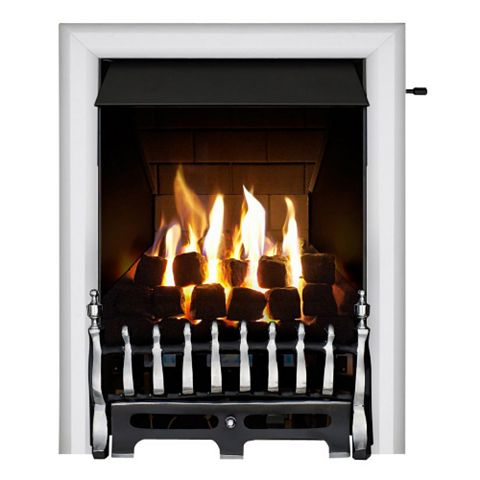Focal Point Blenheim Multi Flue Chrome Slide Control Inset Gas Fire