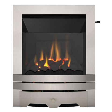 Focal Point Lulworth High Efficiency Stainless Steel Effect Slide Control Inset Gas Fire