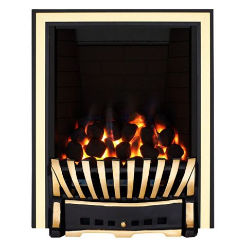 Elegance Black Manual Control Inset Gas Fire