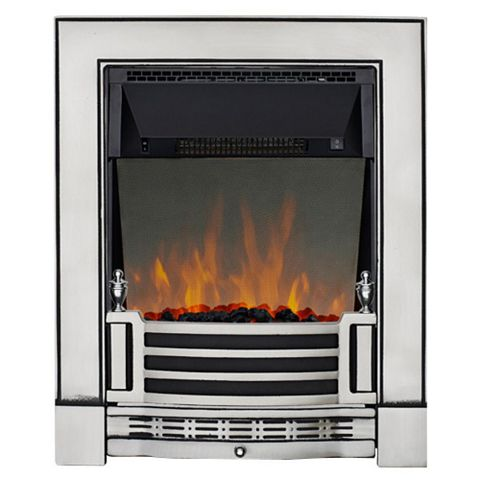 Finsbury Chrome Effect Inset Electric Fire