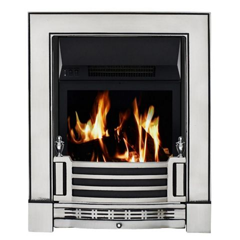 Finsbury Black Remote Control Inset Electric Fire