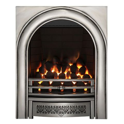 Arch Chrome Manual Control Inset Gas Fire