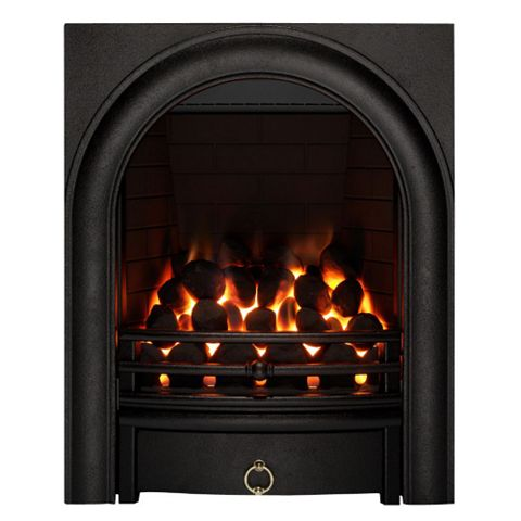 Focal Point Arch Black Remote Control Inset Gas Fire