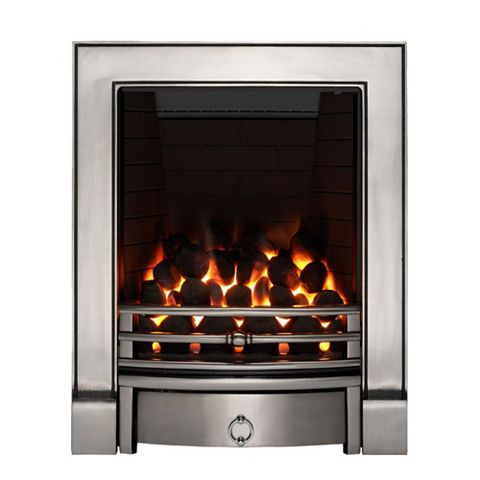Soho Full Depth Satin Chrome Effect Remote Control Inset Gas Fire