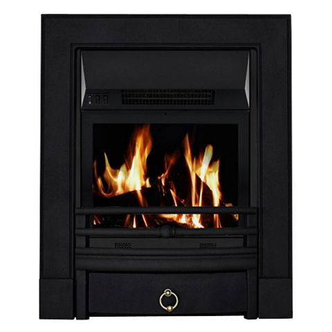 Soho Black Remote Control Inset Electric Fire