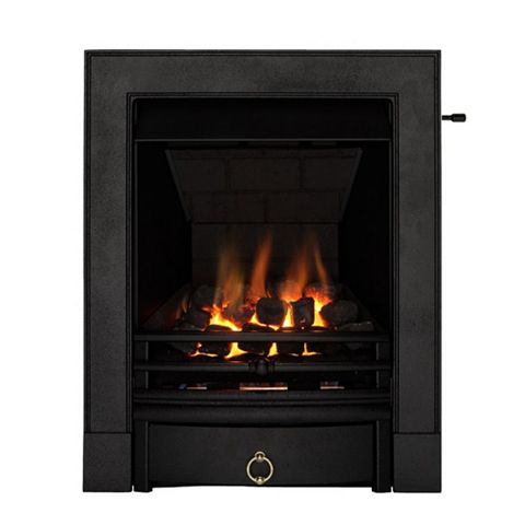 Soho Multi Flue Black Slide Control Inset Gas Fire