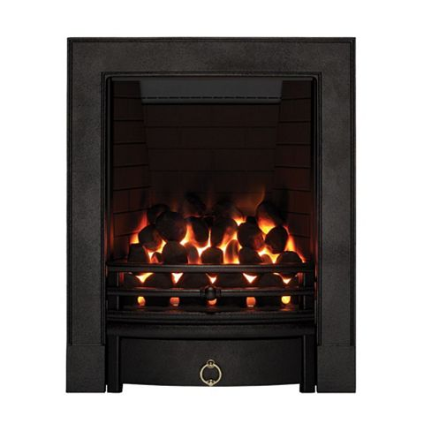 Soho Full Depth Black Remote Control Inset Gas Fire