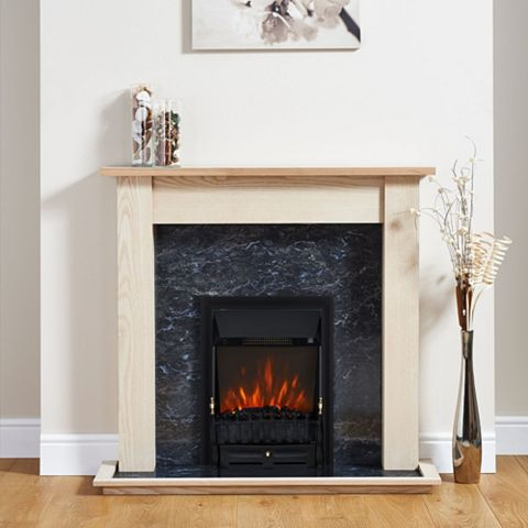 Blenheim Black Inset Electric Fire Suite