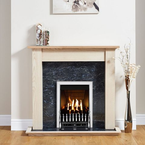 Blenheim Chrome Inset Gas Fire Suite