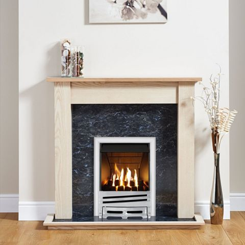 Horizon Chrome Inset Gas Fire Suite