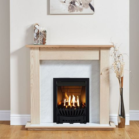 Elegance Black Inset Gas Fire Suite