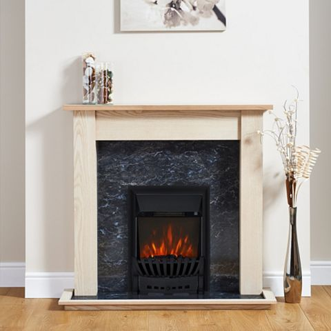 Elegance Black Inset Electric Fire Suite