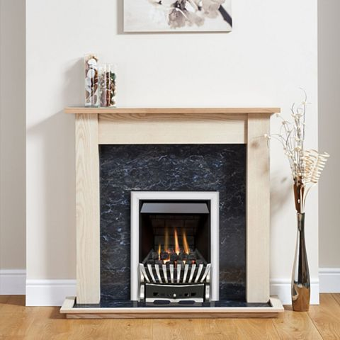 Elegance Chrome Inset Gas Fire Suite