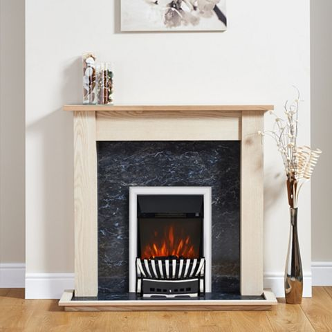 Elegance Chrome Effect Inset Electric Fire Suite
