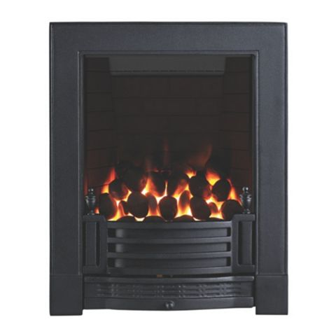 Finsbury Full Depth Black Manual Control Inset Gas Fire