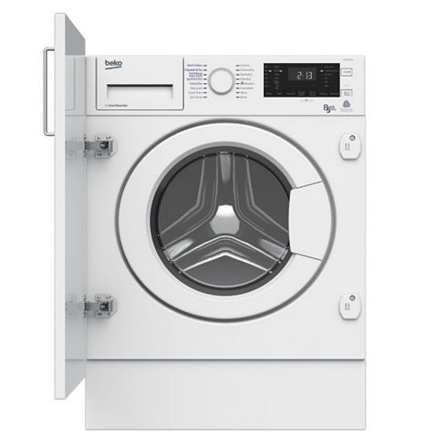Beko WDIY854310 White Built In Washer Dryer