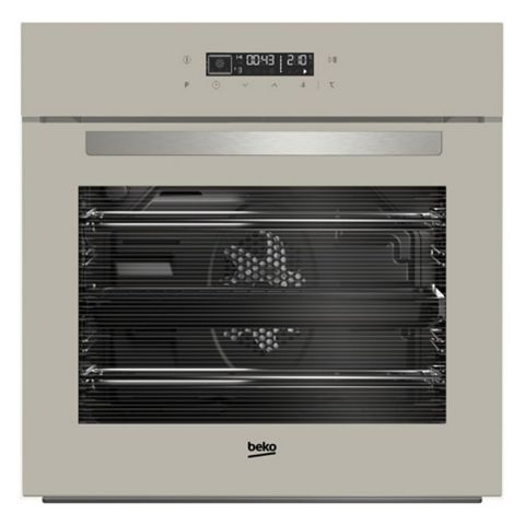 Beko BIM24400GC Grey Glass Electric Multifunction Single Oven