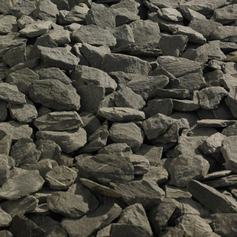 Decorative Slate Chippings, 790 kg