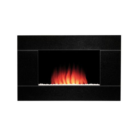 Be Modern Montel Black Remote Control Wall Hung Electric Fire