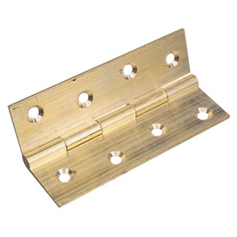 Brass Butt Hinge (L)25mm, Pack of 2