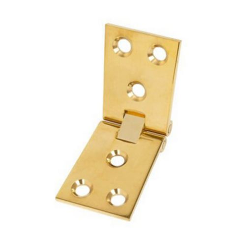 Polished Brass Counter Flap Hinge (L)38mm, Pack of 2