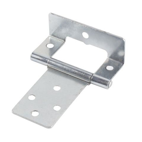 Zinc-Plated Steel Cranked Hinges (L)50mm, Pack of 2