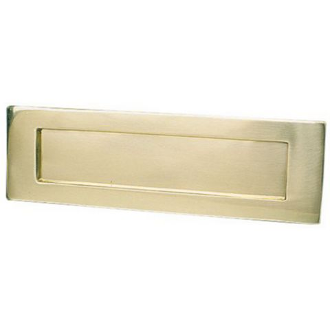 Polished Brass Letter Plate (H)75mm (W)254mm