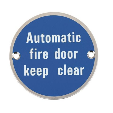 Stainless Steel Fire Safety Sign (Dia)76mm