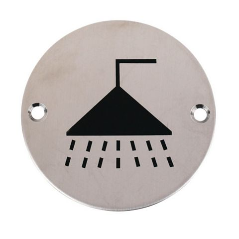 Stainless Steel Shower Sign (Dia)76mm