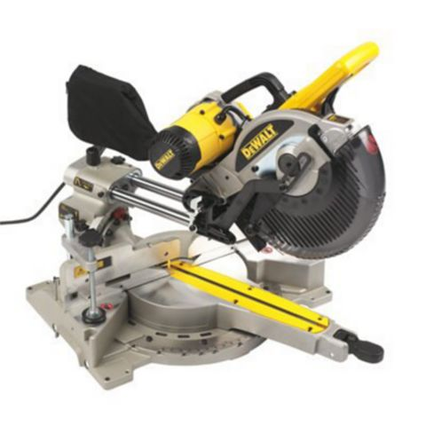 DeWalt 1675W 250mm Double Bevel Sliding Compound Mitre Saw DW717XPS-GB