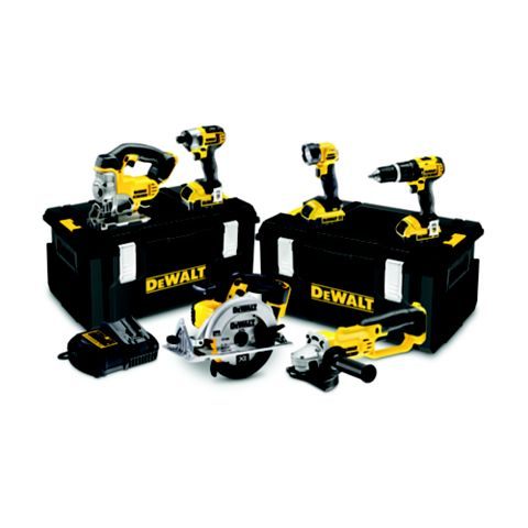 DeWalt Cordless 18V 6 Piece 6 Piece Power Tool Kit DCK691M3-GB